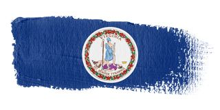 Brushstroke Flag Virginia Stock Photos