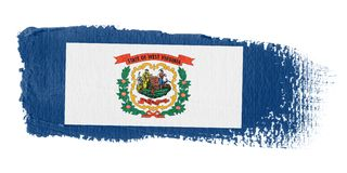 Brushstroke Flag West Virginia Stock Image