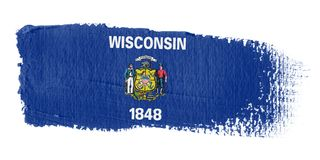 Brushstroke Flag Wisconsin Royalty Free Stock Image