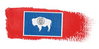 Brushstroke Flag Wyoming Royalty Free Stock Photos