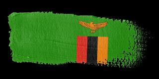 Brushstroke Flag Zambia Stock Photography