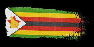 Brushstroke Flag Zimbabwe Stock Image