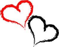 Brushstroke Heart Stock Images