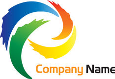 Brushstroke logo Stock Photos