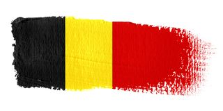Brushstroke-Markierungsfahne Belgien Lizenzfreie Stockfotos