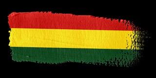 Brushstroke-Markierungsfahne Bolivien Stockfotos