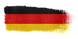 Brushstroke-Markierungsfahne Deutschland Stockfotografie