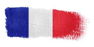 Brushstroke-Markierungsfahne Frankreich Lizenzfreies Stockfoto