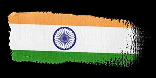 Brushstroke-Markierungsfahne Indien Stockbilder