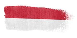 Brushstroke-Markierungsfahne Indonesien Lizenzfreie Stockbilder