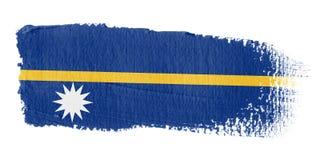 Brushstroke-Markierungsfahne Nauru Lizenzfreies Stockbild