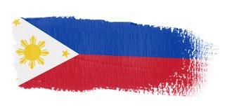 Brushstroke-Markierungsfahne Philippinen Lizenzfreies Stockfoto