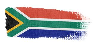 Brushstroke-Markierungsfahne Südafrika Stockfotografie