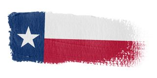 Brushstroke-Markierungsfahne Texas Lizenzfreie Stockbilder