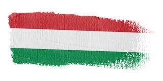 Brushstroke-Markierungsfahne Ungarn Lizenzfreie Stockfotos