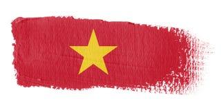 Brushstroke-Markierungsfahne Vietnam Lizenzfreie Stockbilder