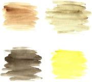 Brushstrokes акварели Стоковые Фотографии RF