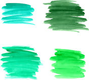 Brushstrokes акварели Стоковое фото RF