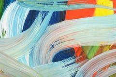 Brushstrokes краски предпосылка абстрактного искусства Стоковая Фотография RF
