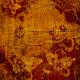 Brushstrokes astratti dell'acquerello con l'ornamento floreale Fotografie Stock