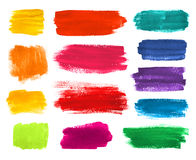 Brushstrokes banners collection. Color hand drawn watercolor brushstrokes banners collection Royalty Free Stock Images