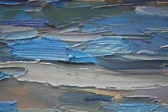 Brushstrokes coloridos no petróleo na lona Foto de Stock