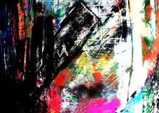 Brushstrokes della pittura della priorità bassa di media Mixed Fotografia Stock