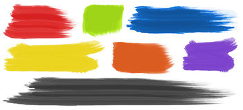 Brushstrokes with different colors Royalty Free Stock Image