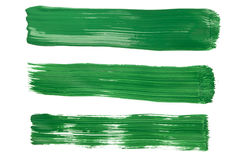 Brushstrokes from green paint Royalty Free Stock Photo