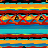 Brushstrokes seamless bold ethnic pattern Royalty Free Stock Photos