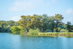 Brushy Creek lake. Park in Cedar Park Texas stock photos