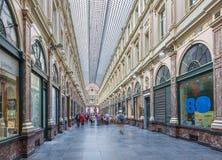 BRUSSEL, BELGIË - JUNI 16, 2014: Koninklijke Galeries van st Hubert stock afbeeldingen