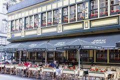 Brussel, België, 25 Juni 2015: Restaurant in Brussel, België Royalty-vrije Stock Afbeelding