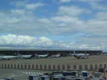 Brussel lotniska fartuch zdjęcie royalty free