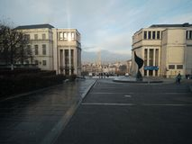 Brussel - mont des arts Royalty-vrije Stock Afbeeldingen