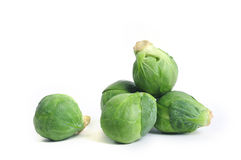 Brussel Sprout. A group of green and fresh brussel sprouts stock images