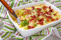 Brussel sprout casserole Stock Photo
