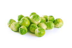 Brussel sprout. Isolated on white background stock photos