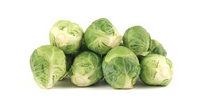 Brussel Sprouts. A group of fresh healthy brussel sprouts stock photos