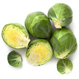 Brussel Sprouts. Isolated on white background royalty free stock images