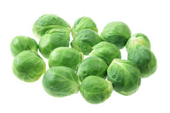 Brussel Sprouts. On White Background royalty free stock image
