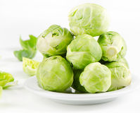 Brussel Sprouts. Fresh brussel Sprouts. Selective focus royalty free stock photography