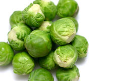 Brussel Sprouts. On white background Stock Photo