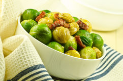 Brussel sprouts & chestnuts Royalty Free Stock Photos