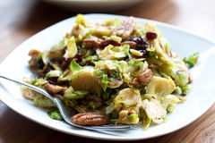 Brussel sprouts with cranberries and pecan Stock Photography