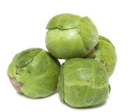 Brussel Sprouts isolated on white background Stock Image