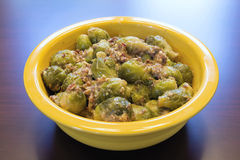 Brussel Sprouts with Pancetta Royalty Free Stock Images