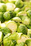 Brussel Sprouts Raw Cut Up Royalty Free Stock Images