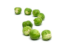 Brussel Sprouts in a Row Royalty Free Stock Images