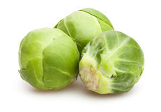 Brussel sprouts. On white background royalty free stock images